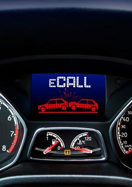 Image of eCall in Operation in Automotive Dashboard